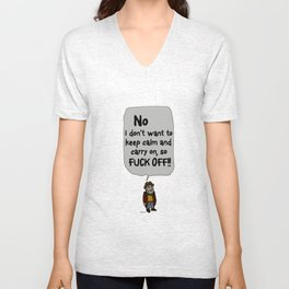 Leave me alone - 7a Unisex V-Neck