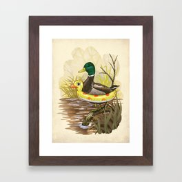 Duck in Training Framed Art Print