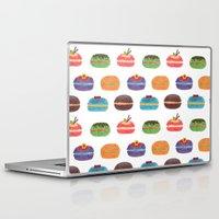 macarons Laptop & iPad Skins featuring Sweet Macarons by haidishabrina