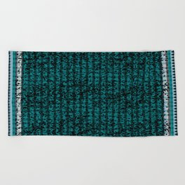 Forest in Teal II Beach Towel