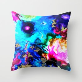 abstract cosmic blue Throw Pillow