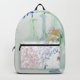 Flowers in Glass Bottles Backpack