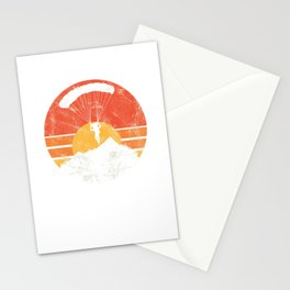 Parachuting Vintage Skydivers Parachute Skydiving Extreme Sports Gift Stationery Cards