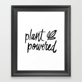 Plant Powered Framed Art Print