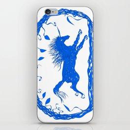 Blue Unicorn 02 iPhone Skin