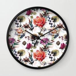 Lake of flowers Wall Clock