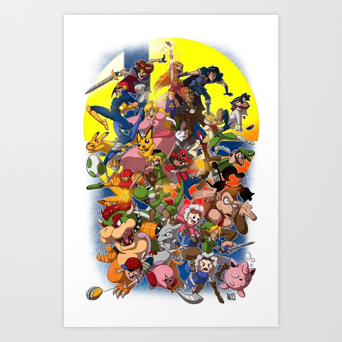 Smash Bros Melee! Art Print