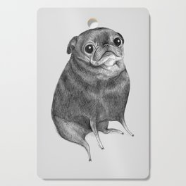 Sweet Black Pug Cutting Board