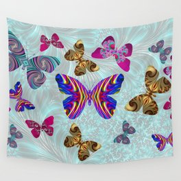 Fractal Butterfly Paradise Wall Tapestry