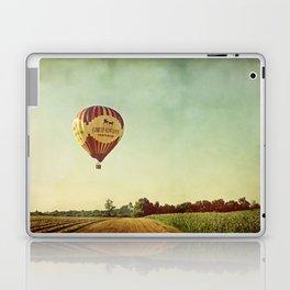 Hot Air Balloon Over Farmland Laptop & iPad Skin