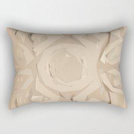 Ukrainian Carving Cutout Pine Wood Rectangular Pillow