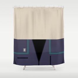 Ensign Hoshi Sato - Minimalist Star Trek: Enterprise ENT - Trektangle - Trektangles - startrek NX-01 Shower Curtain