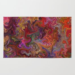 Psychedelic soup Rug