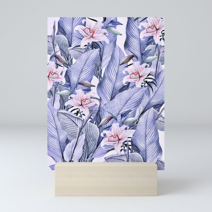 Tropical state - violet Mini Art Print