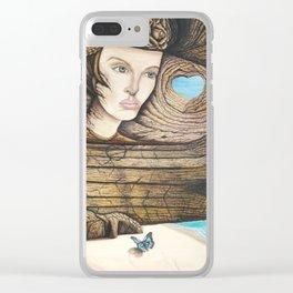 L'amour couleur azur Clear iPhone Case