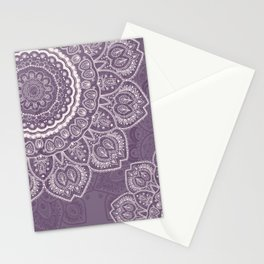 Mandala Tulips in Lavender ad Cream Stationery Cards