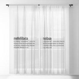 Nefelibata Sheer Curtain