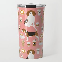 Beagle coffee dog breed gifts pupuccino dog lover beagles pure breed Travel Mug