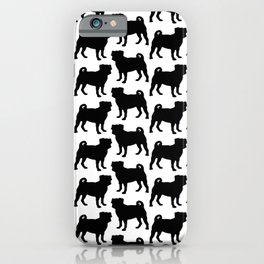 Simple Pug Silhouette iPhone Case