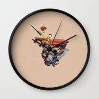 western Wall Clocks featuring Western by Lerson