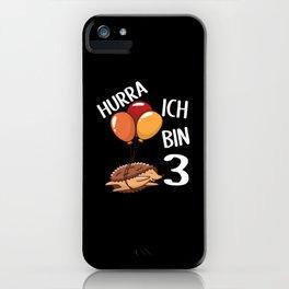 Third Birthday Gift Idea iPhone Case