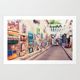 Caribbean Street Paintings Fine Art Print Art Print