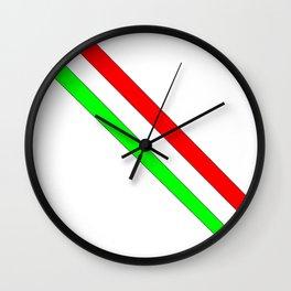 flag of Italia scarf- Italy,Italia,Italian,Latine,Roma,venezia,venice,mediterreanean,Genoa,firenze Wall Clock