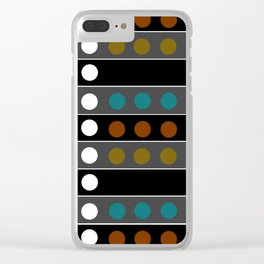 Mic Check 2 - Abstract Clear iPhone Case