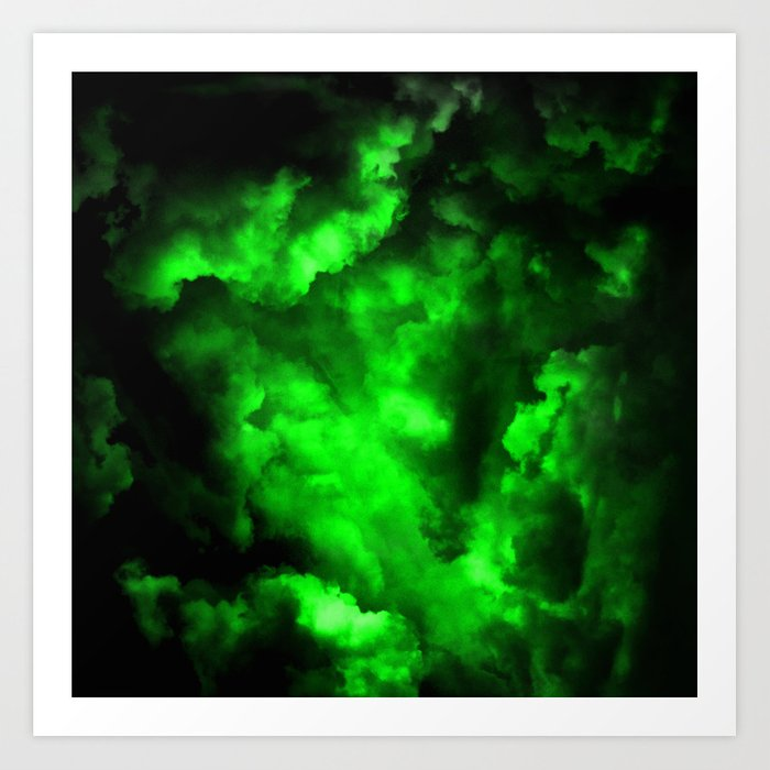 Envy - Abstract In Black And Neon Green Kunstdrucke