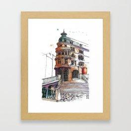 Antigo Banco Borges, Porto Framed Art Print
