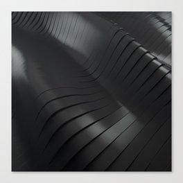 Black waves Canvas Print