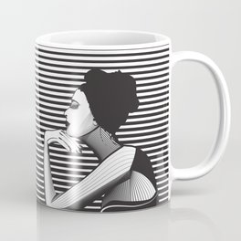 Black and White Female Coffee Mug