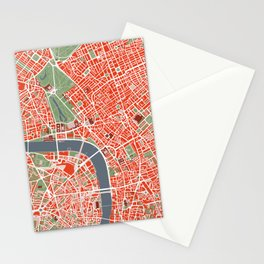London city map classic Stationery Cards
