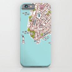 Fun New York City Manhattan street map illustration Slim Case iPhone 6
