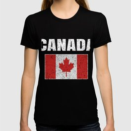 Canadian National Flag Vintage Canada Country Gift T-shirt