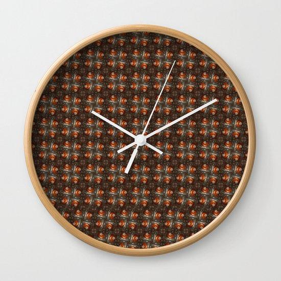 Salad Spinner Pattern Wall Clock
