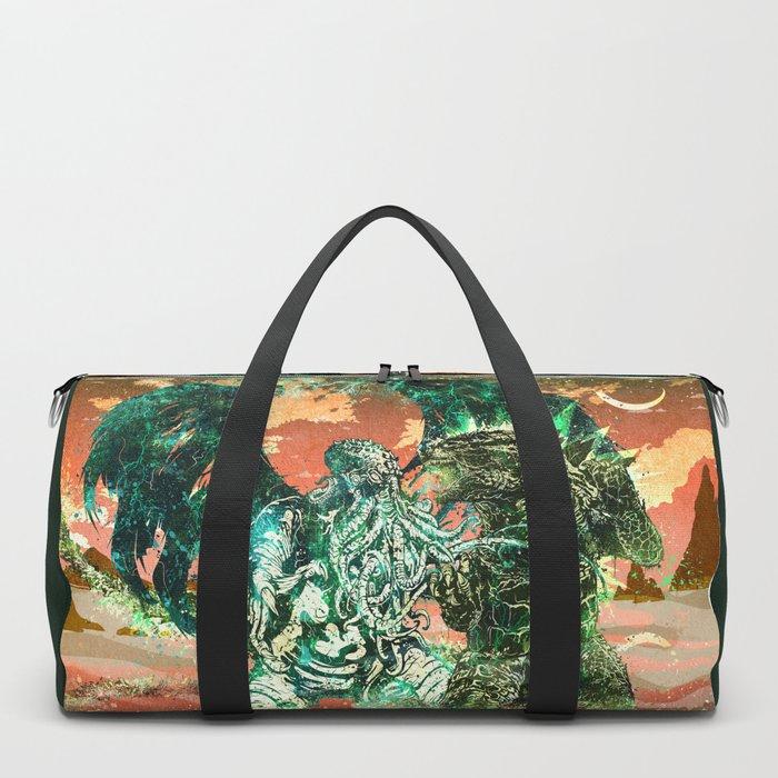 Cthulhu vs Godzilla Duffle Bag