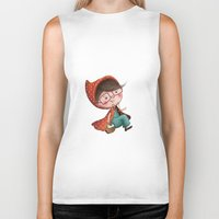 red riding hood Biker Tanks featuring Red Riding Hood by Antoana Oreski Illustration