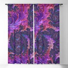 Trippy fractal Blackout Curtain