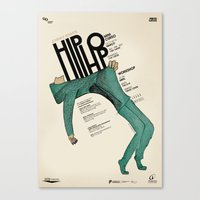 hip hop Canvas Prints featuring Hip-Hop by Mariana Baldaia