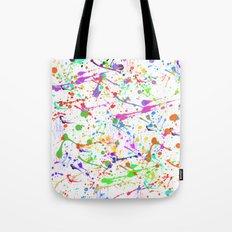 Paint Splatter 2 - White Tote Bag