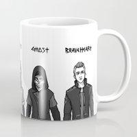 boys Mugs featuring Dystopian Boys by Plebnut