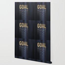 Goal Digger - Gold on Black Wallpaper