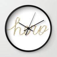hero Wall Clocks featuring Hero by courtneeeee