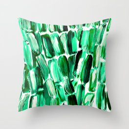 Green Sugarcane, Unripe Throw Pillow