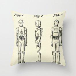 Robot C3PO-1979 Throw Pillow
