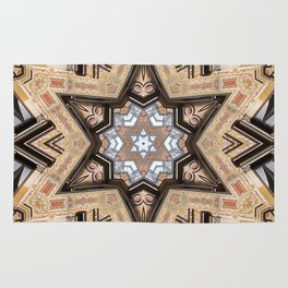 Architectural Star of David Rug