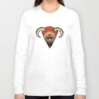 devil Long Sleeve T-shirts featuring Devil by LessaKs Art