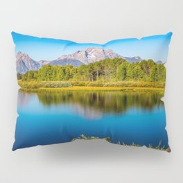 Oxbow Bend - Mt Moran in the Grand Tetons Pillow Sham
