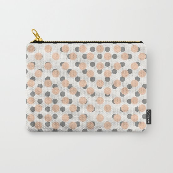 Black & Pink Polka Dots Carry-All Pouch